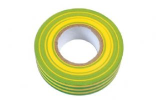 Connect 36891 Green & Yellow PVC Insulation Tape 19mm x 20m Pk 1